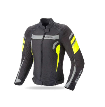 Bela Rebel Lady Rider Waterproof Textile Jacket - Black/Fluro Yellow