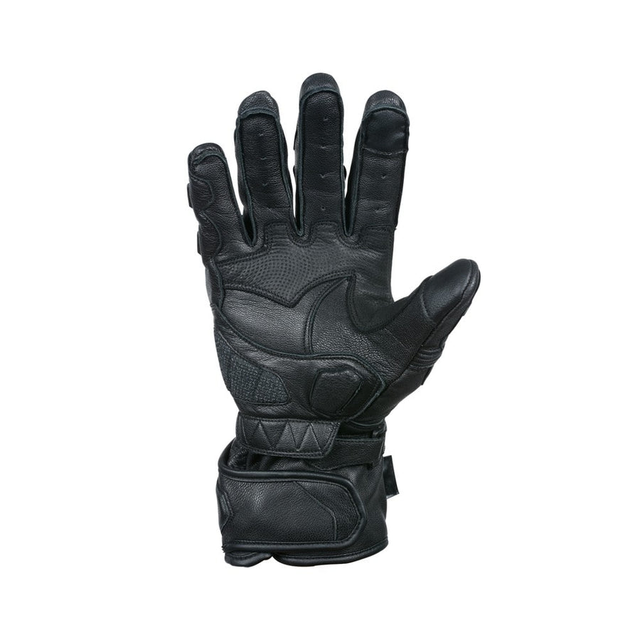 Bela Rocket Long Motorcycle Racing Gloves - Black - DublinLeather