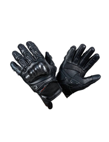 Bela Rocket Short Motorcycle Racing Gloves - Black - DublinLeather