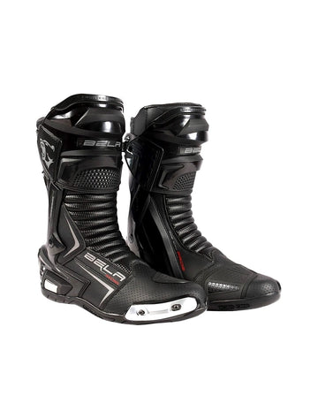Bela Speedo 2.0 Motorcycle Racing Boots - Black - DublinLeather