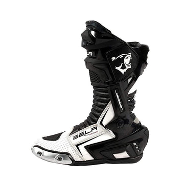 Bela Speedo 2.0 Motorcycle Racing Boots Black White Leather Dublin Ireland UK