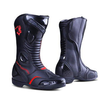 Bela Stripe Lady Motorcycle Racing Boots Black Red Leather Dublin Ireland UK