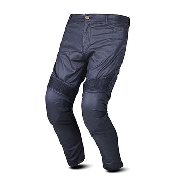 Bela Tom Men Wax Coated Kevlar Denim Black Pants for Bikers with Knee Protectors on Sale online Dublin Ireland UK