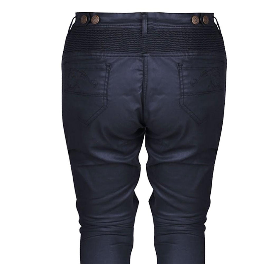 Bela Cat Lady Wax Coated Kevlar Denim Black Pants for Bikers with Knee Protectors on Sale online Dublin Ireland UK