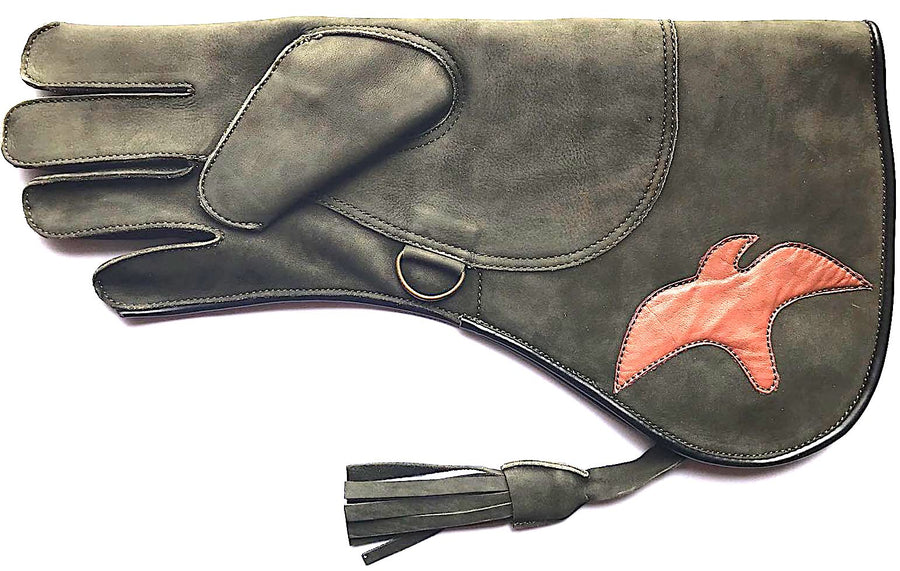 Olive Green Eagle Glove - Falconry - DublinLeather