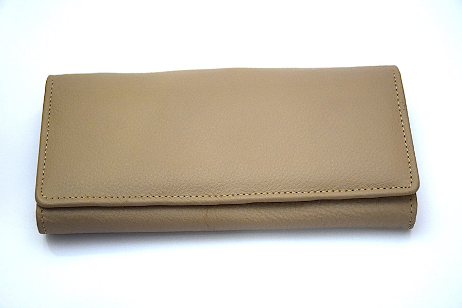 Leather Clutch - Cream - DublinLeather