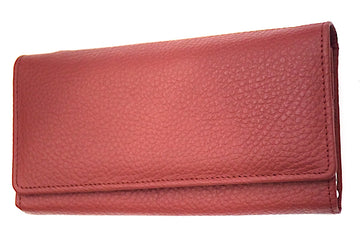 Leather Clutch - Magenta - DublinLeather