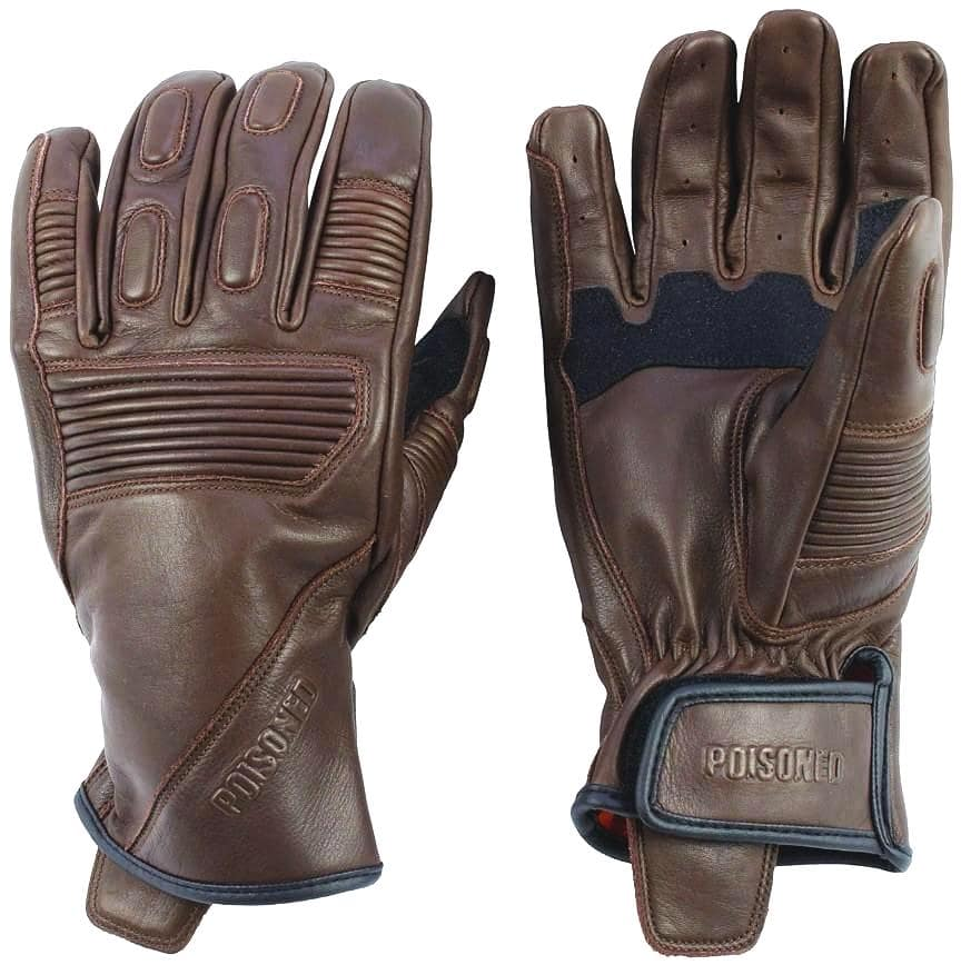 Poisoned Phantom Summer Motorcycle Leather Gloves - Brown - DublinLeather