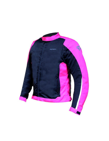 R-Tech Motril Lady Motorcycle Touring Jacket - Black/Pink