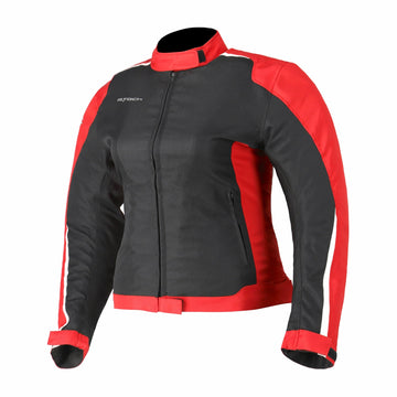 R-Tech Motril Lady Motorcycle Touring Jacket - Black/Red