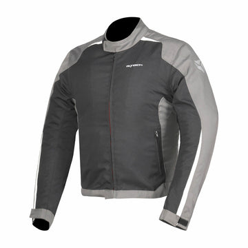 R-Tech Motril Mens Motorcycle Touring Jacket - Black/Grey