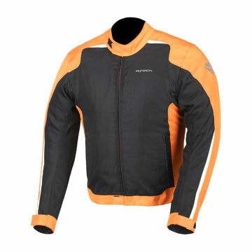 R-Tech Motril Mens Motorcycle Touring Jacket - Black/Orange