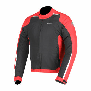 R-Tech Motril Mens Motorcycle Touring Jacket - Black/Red