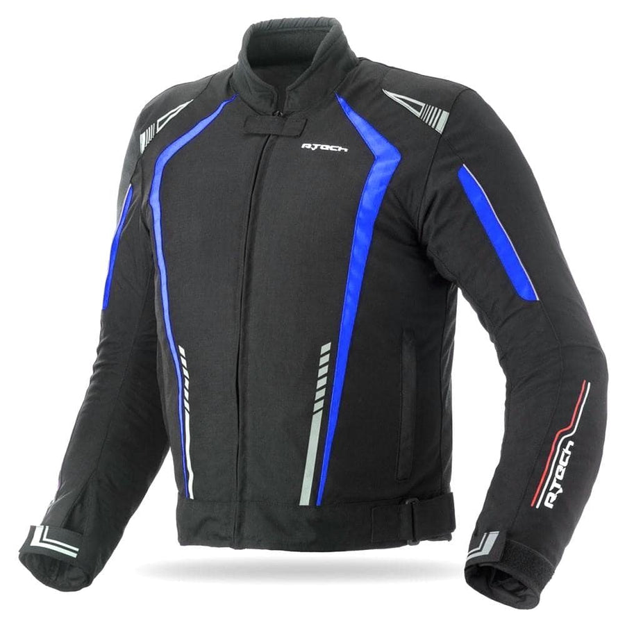 R-Tech Marshal Motorcycle Textile Jacket - Black/Blue - DublinLeather