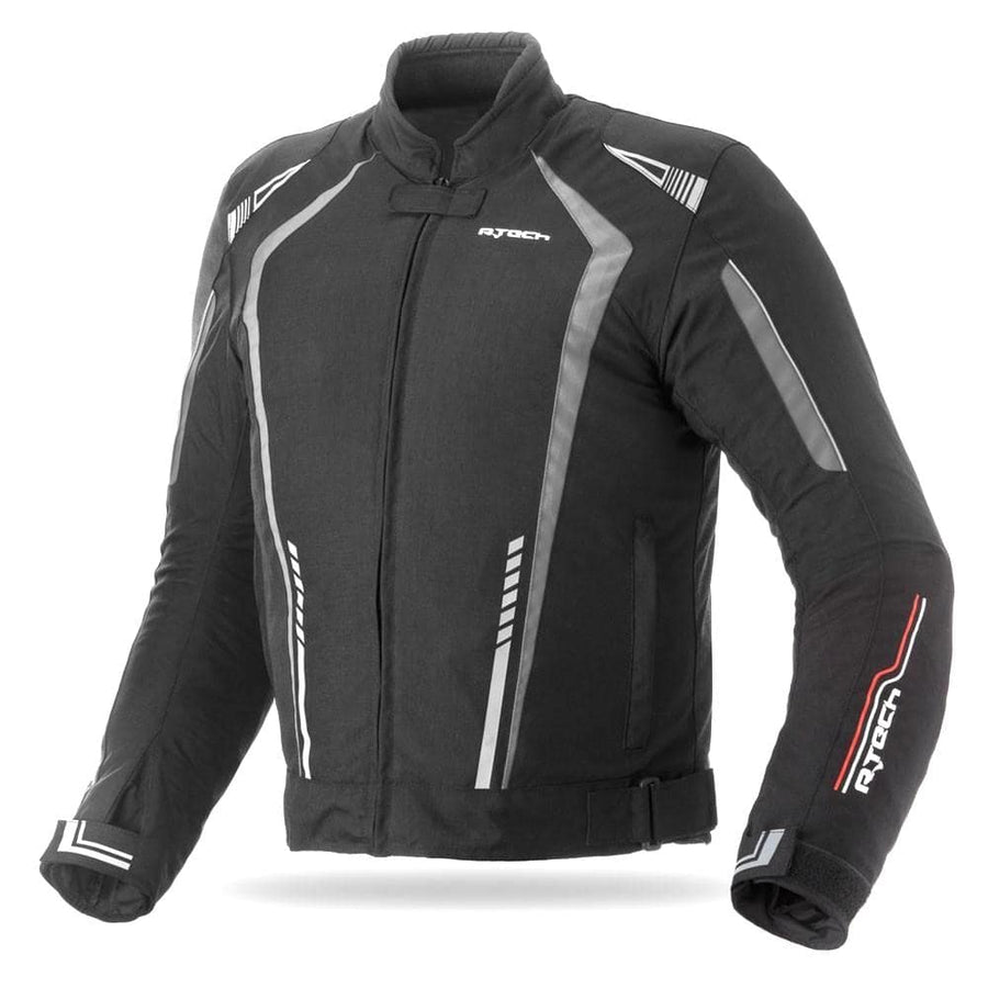 R-Tech Marshal Motorcycle Textile Jacket - Black/Grey - DublinLeather