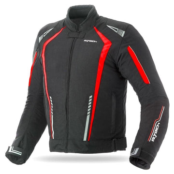 R-Tech Marshal Motorcycle Textile Jacket - Black/Red - DublinLeather