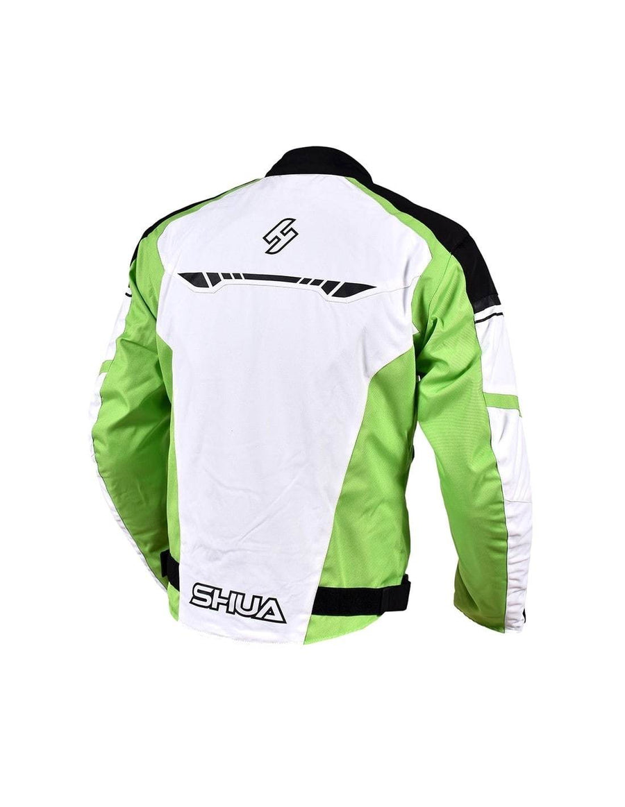 Shua Immortal Motorbike Touring Jacket - Ice/Green/Black
