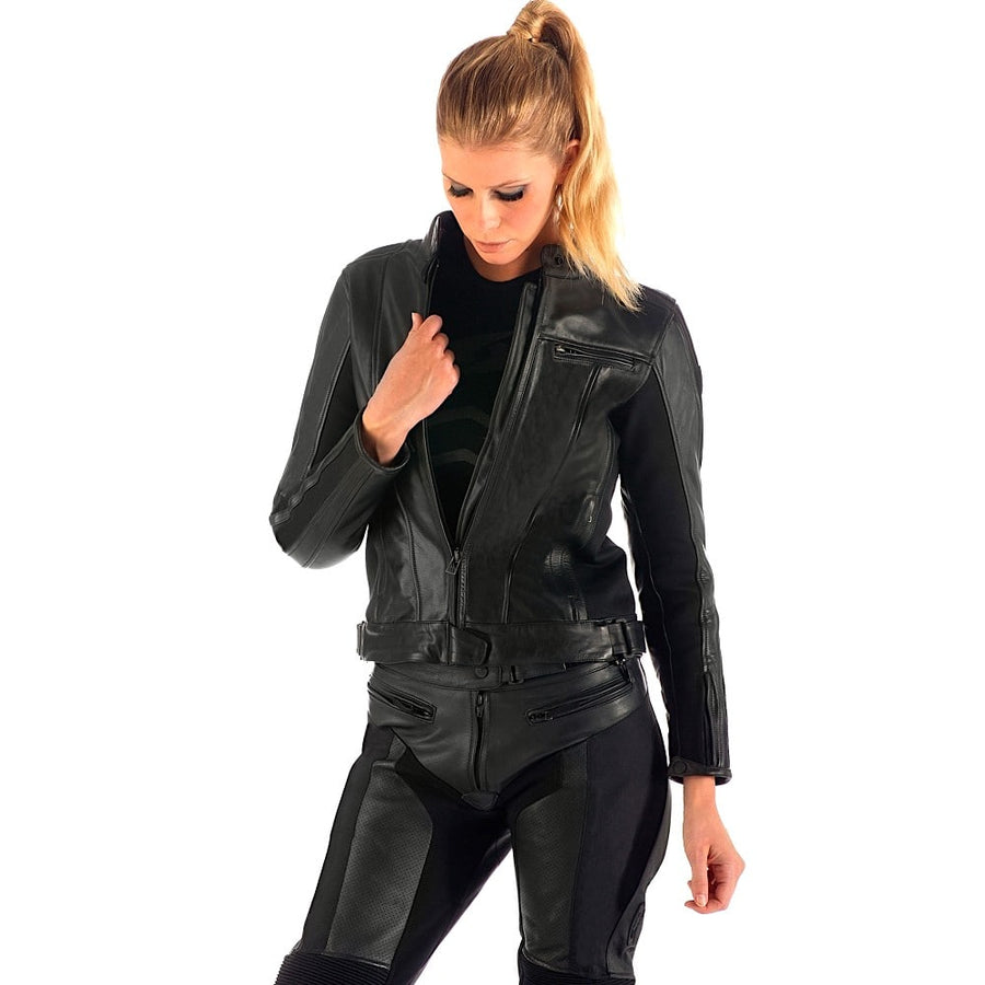 Spyke LF Women's Motorcycle Cowhide Leather Pants - DublinLeather