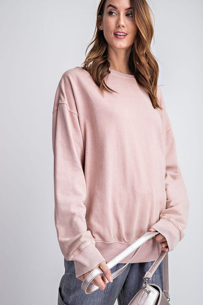 Janelle - Slouchy Long Sleeve Terry Pullover