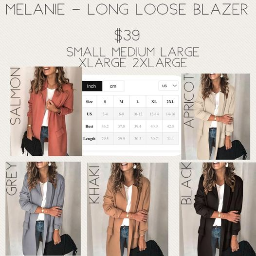 Melanie - Long Loose Blazer