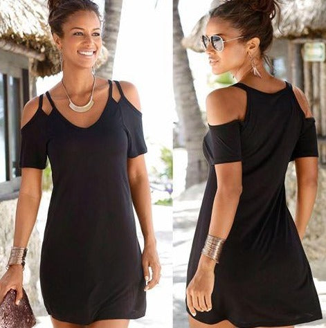 Claire - Strappy Short Sleeve LBD