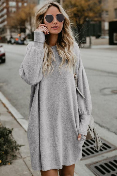 Farrah - Bubble Sleeve Sweater Dress