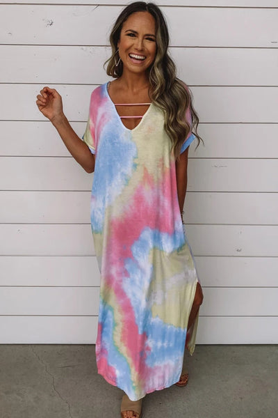 Arianna - Loose Tie Dye Maxi Dress
