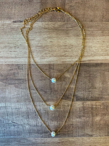 3020 - Bohemian Pearl Necklace