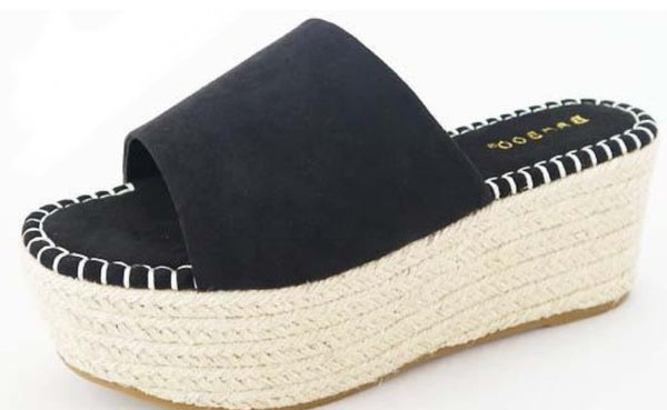Penelope - Slide On Espadrille Platform Sandals