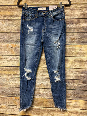 Marlie - Distressed Ankle Jeans