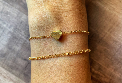3066 - Dainty Heart Layered Bracelet