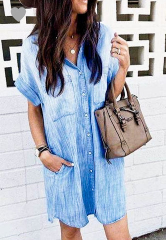 Jenn - Chambray Dress