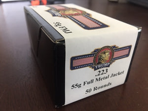 Trump 2020 Commemorative Ammo 223 55g FMJ