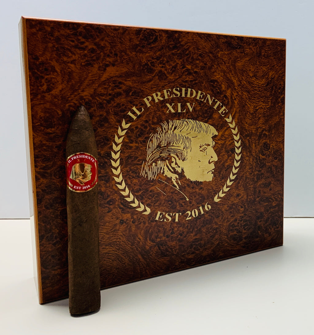 (Burl Edition) IL Presidente Premium Cigar (20-Pack) with Upcoming Box
