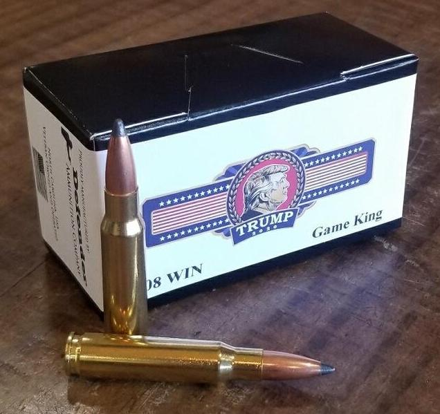 Trump 2020 Commemorative .308 Winchester 165 grain SoftPoint