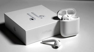 Airpods m/ ladeetui (trådløs lading)