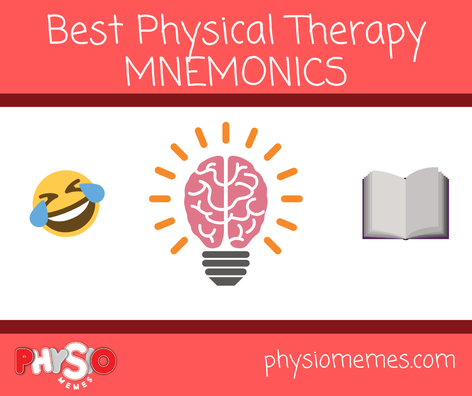 18 Best Mnemonics For Physical Therapy Physio Memes