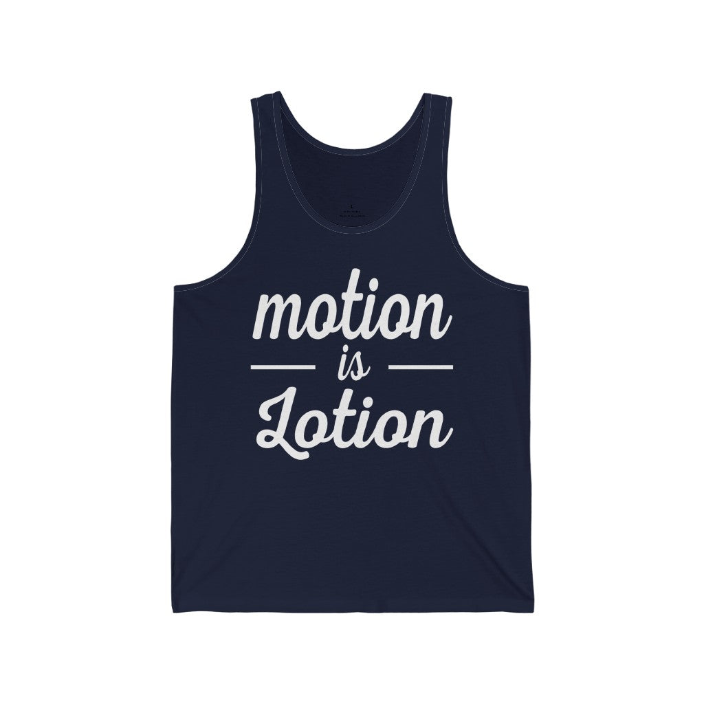 Tank Top Motion is Lotion Men's Tank - Physio Memes