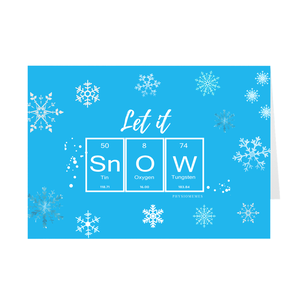 Let It SnOW Folded Cards
