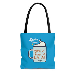 Sipping on my Tensor Fascia Latae Tote Bag