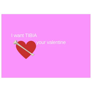 I Want TIBIA Your Valentine Card