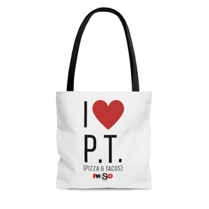 I Love Pizza and Tacos Tote Bag