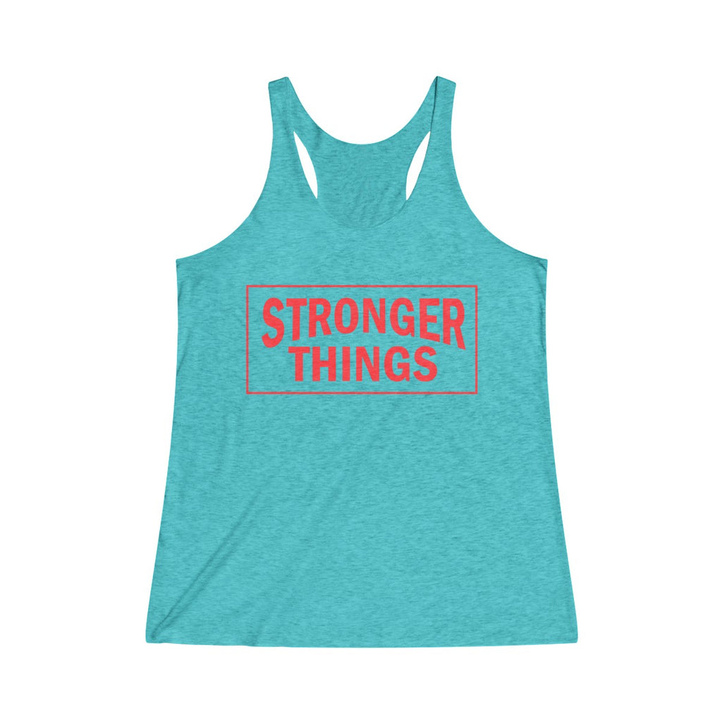 Tank Top Stronger Things Racerback Tank - Physio Memes