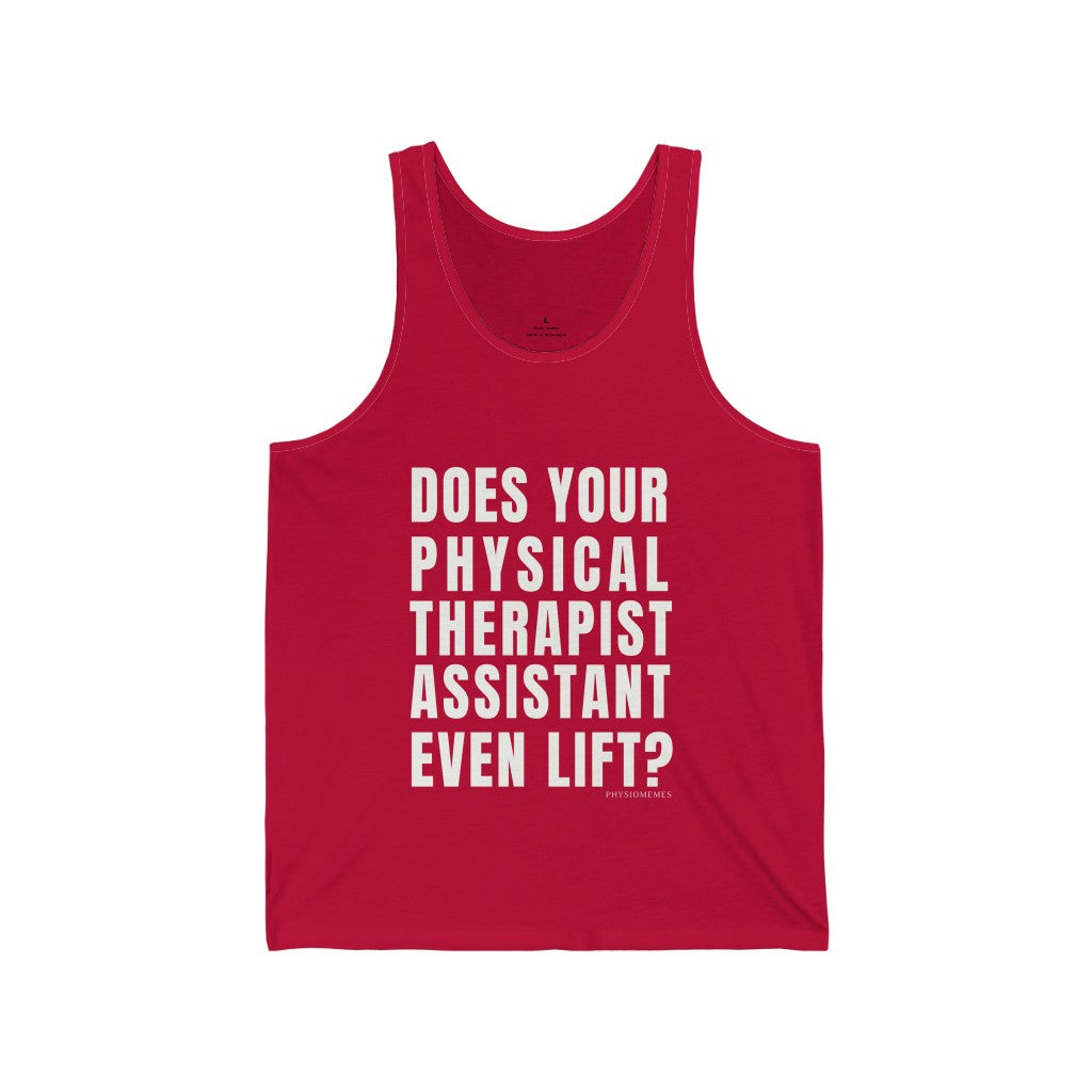 Tank Top Does Your Physical Therapist Assistant Even Lift? Men's Tank - Physio Memes