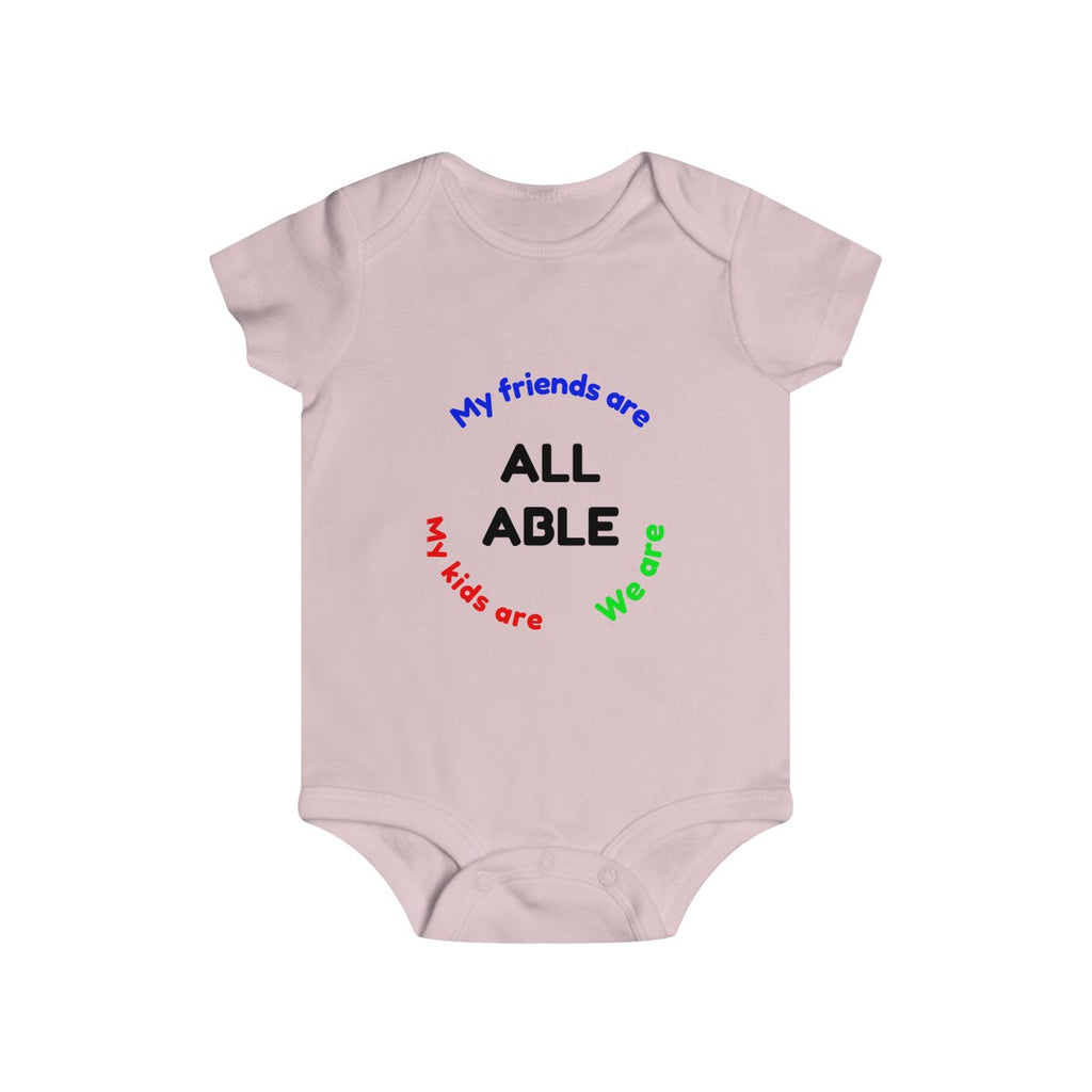 Kids clothes My kids are, my friends are, we are all able Onesie - Physio Memes