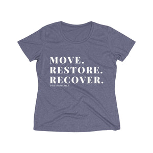 Move. Restore. Recover. Women's Heather Tee
