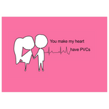 You Make My Heart Have PVCs Valentine's Card - Physio Memes
