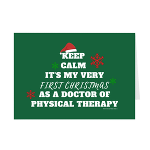 Keep Calm It's My Very First Christmas As a DPT Folded Cards