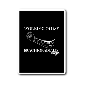 Working On My Brachioradialis Sticker (Black)