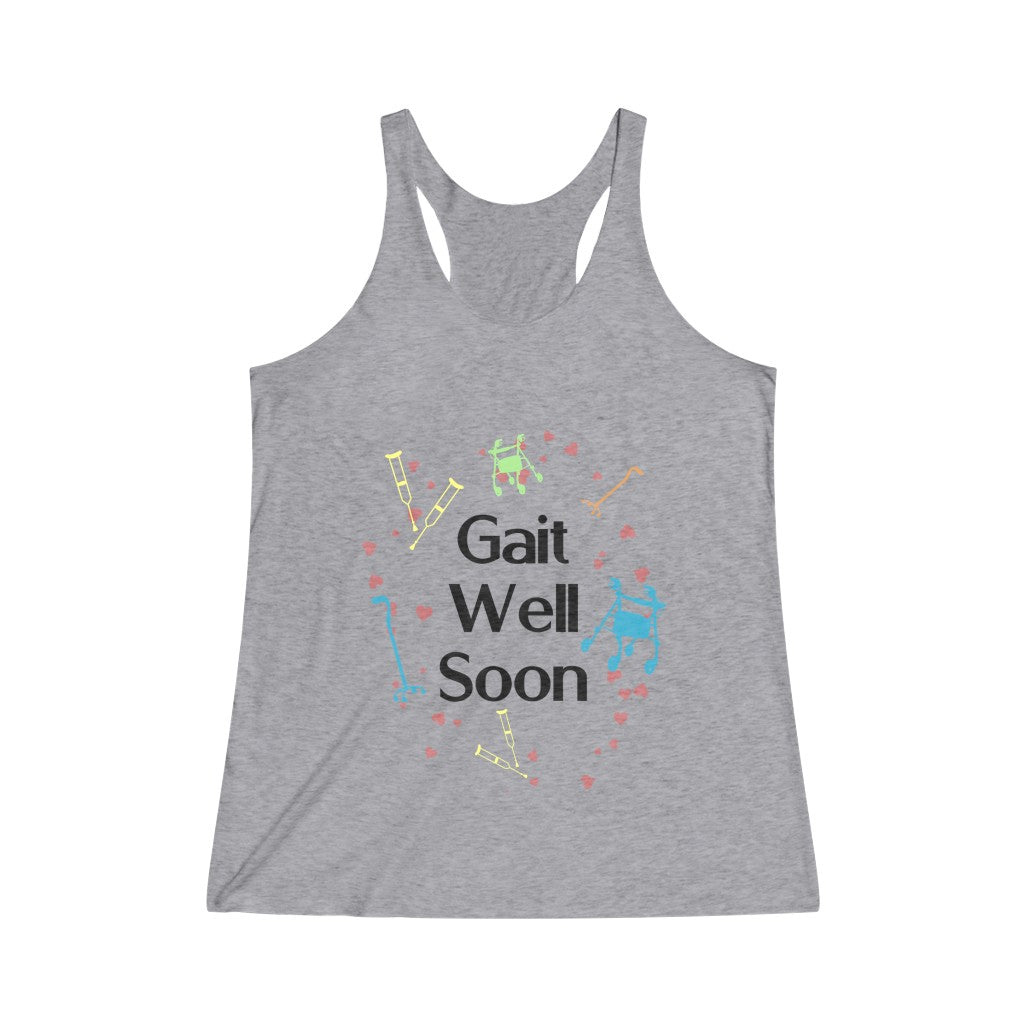Tank Top Gait Well Soon Women's Racerback - Physio Memes